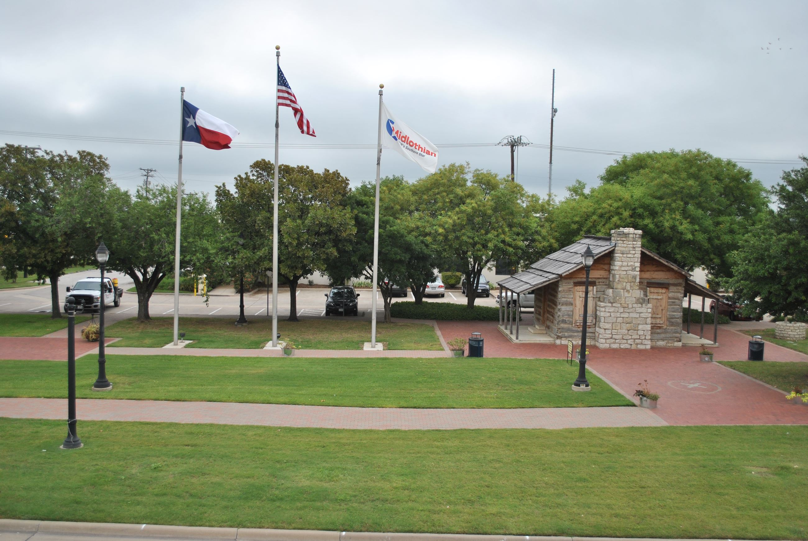 Heritage Park with flags 2014