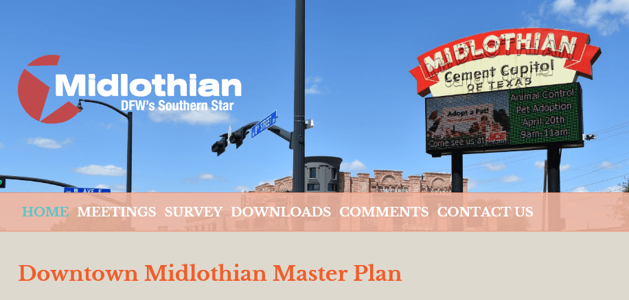 Downtown Master Plan Website Header