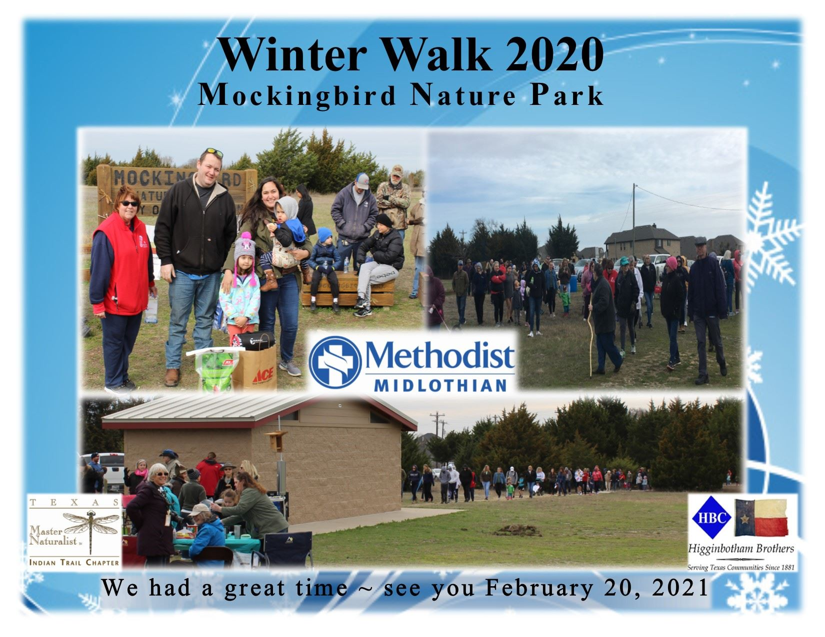 Winter Walk 2020 thank you